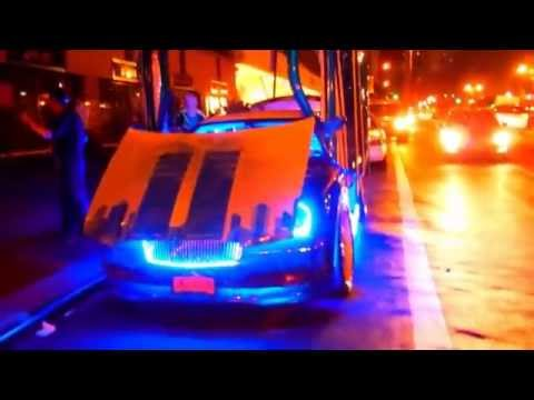 CUSTOMIZED CAR WITH LIGHTSHOW IN TIMES SQUARE YouTube - Car light show
