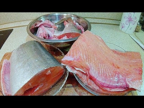 Как разделать красную рыбу на филе видео