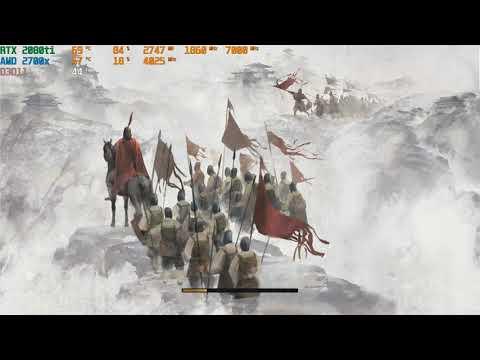 RTX 2080ti   Total war: Three Kingdoms   max graphic 4K  