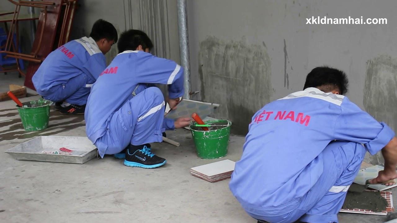 Thi tuyển đơn hàng ốp lát gạch đi xuất khẩu lao động Nhật Bản