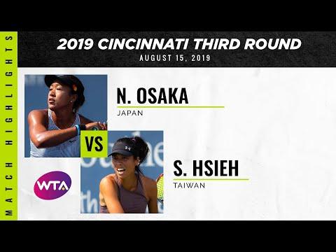 Naomi Osaka vs. Hsieh Su-Wei | 2019 Western \u0026 Southern Open Third Round | WTA Highlights
