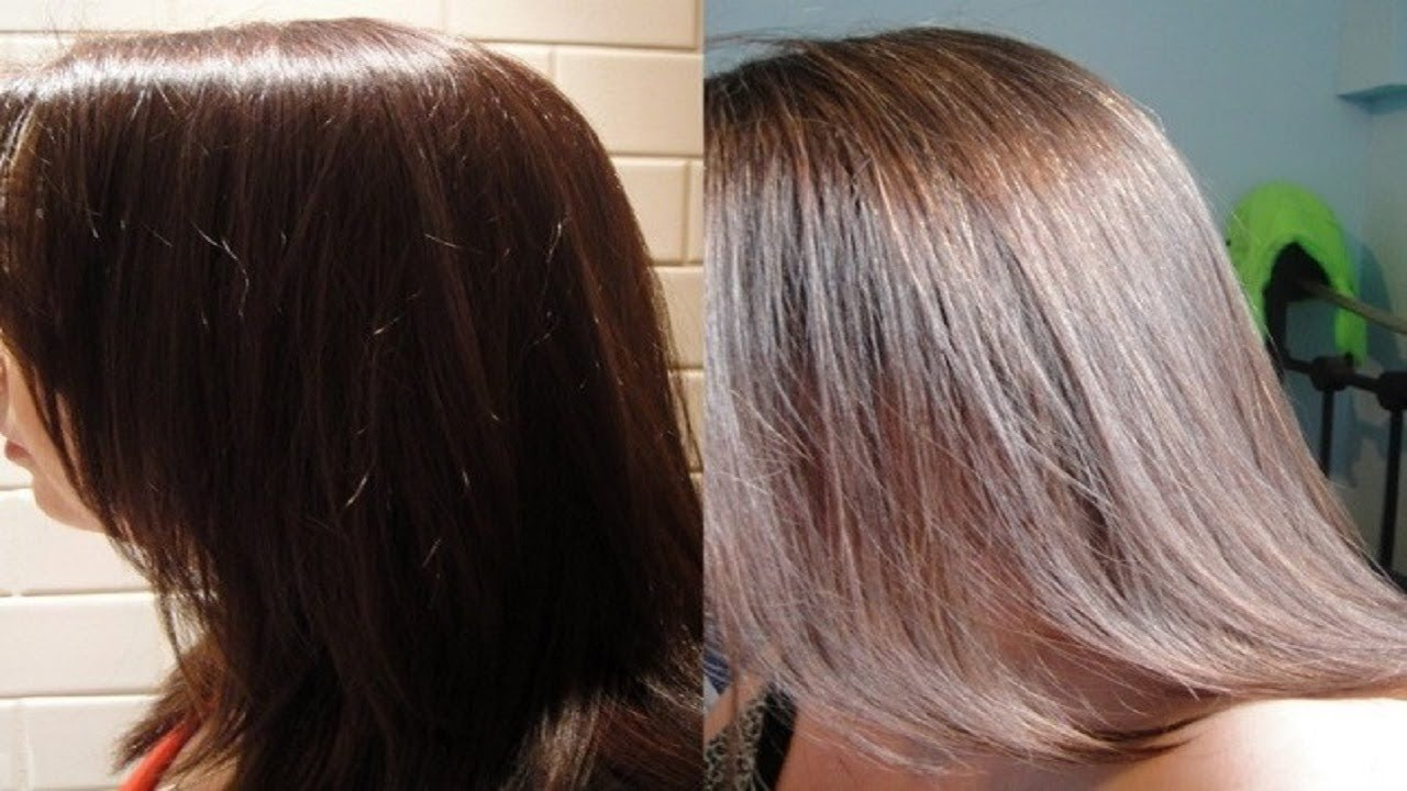 How to Lighten Dyed Hair That is Too Dark. - YouTube