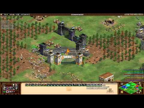 Aoe2 HD: 4v4 Black Forest (Vikings, Mass Scorpions)