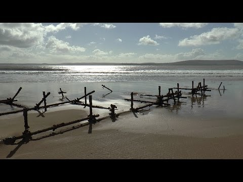 In search of a Wreck on Cefn Sidan Beach, 23/03/2014