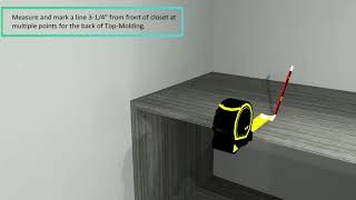 How To Install Lifespan Closets Top Molding