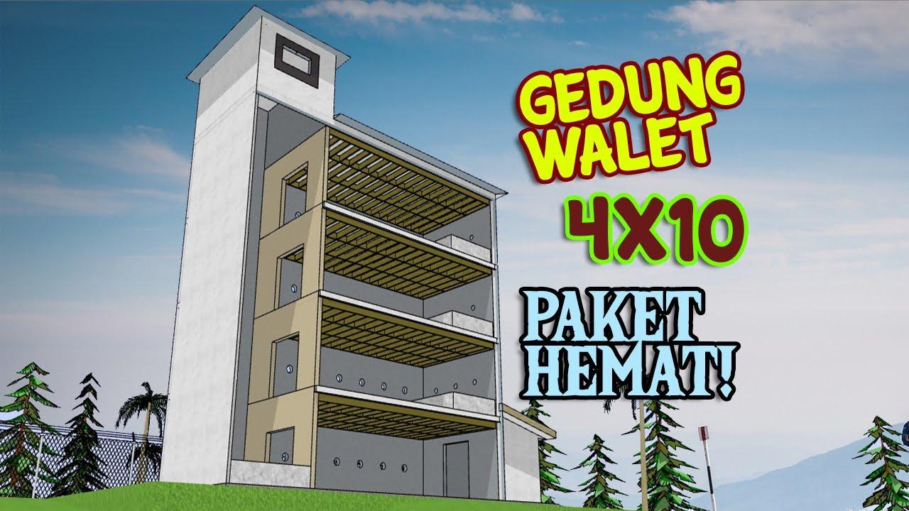 Desain Gedung Walet RBW 4X10 Dengan Sekat Ruang YouTube