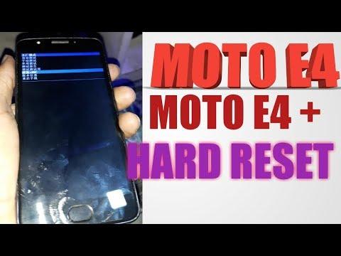 hard reset moto e4 - Myhiton