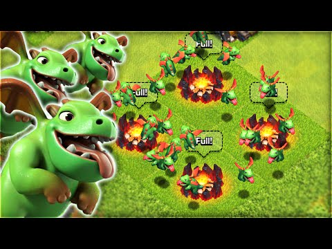 Clash of Clans – ALL 'BABY DRAGON' RAID! USING NEW TROOP 'BABY DRAGON'! (CoC NEW Troop Update)