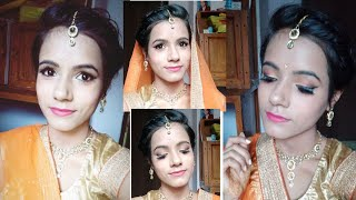 Bridal engagement makeup look..#wedding zone series..
