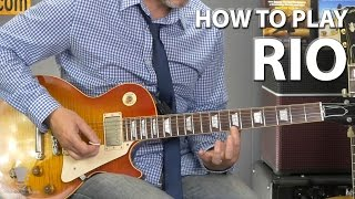 How to Play Rio by Duran Duran - Ebow Guitar Lesson