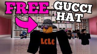 FREE GUCCI HAT! HOW To GET Gucci Denim Wide Brim Hat (ROBLOX)