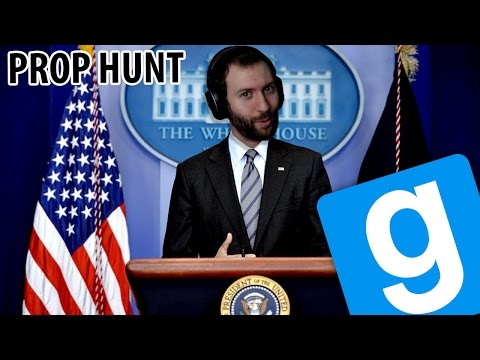 WACKINESS AT THE WHITE HOUSE | GMod Prop Hunt Funny Moments