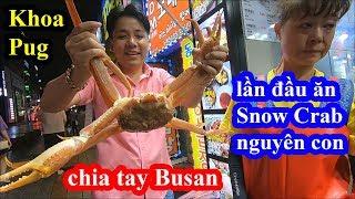 Snow Crab Busan - Khoa Pug vào nhà hàng hải sản trung tâm ăn Cua Tuyết xem thử có bị chặt chém không