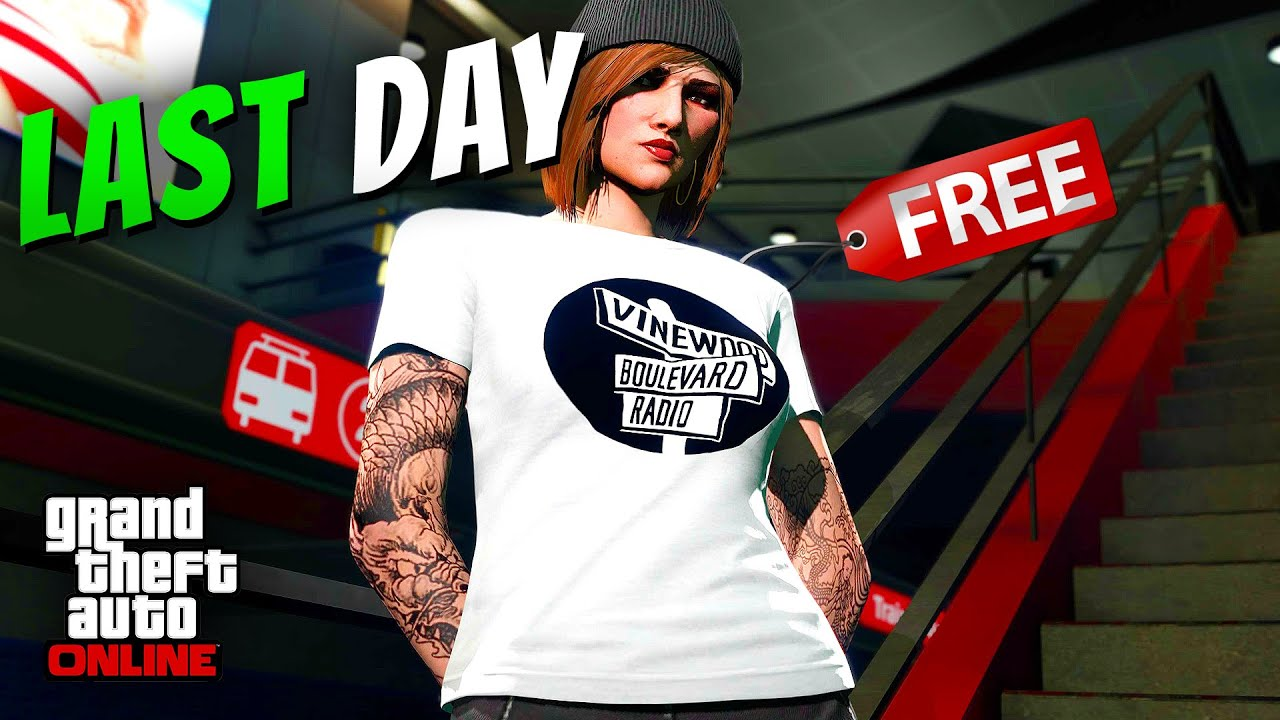 LAST DAY to CLAIM for FREE the Vinewood Boulevard Radio T-Shirt