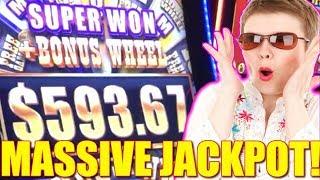 ★ BUFFALO GRAND SUPER JACKPOT ★ LADY WINS MASSIVE HANDPAY AT THE LAS VEGAS AIRPORT | Slot Traveler