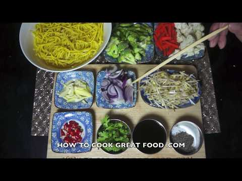 Chow Mein Recipe - Chinese Spicy Vegetables Noodles