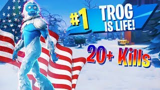 Trog Skin Carries Squad To Victory! - Fortnite Battle Royale