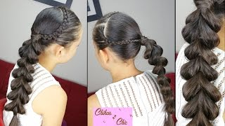 Lace Braids into Pull Through Braid | Easy Hairstyles | Hairstyles for School