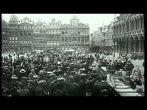 The city of Brussels under German occupation during World War II. HD Stock Footage