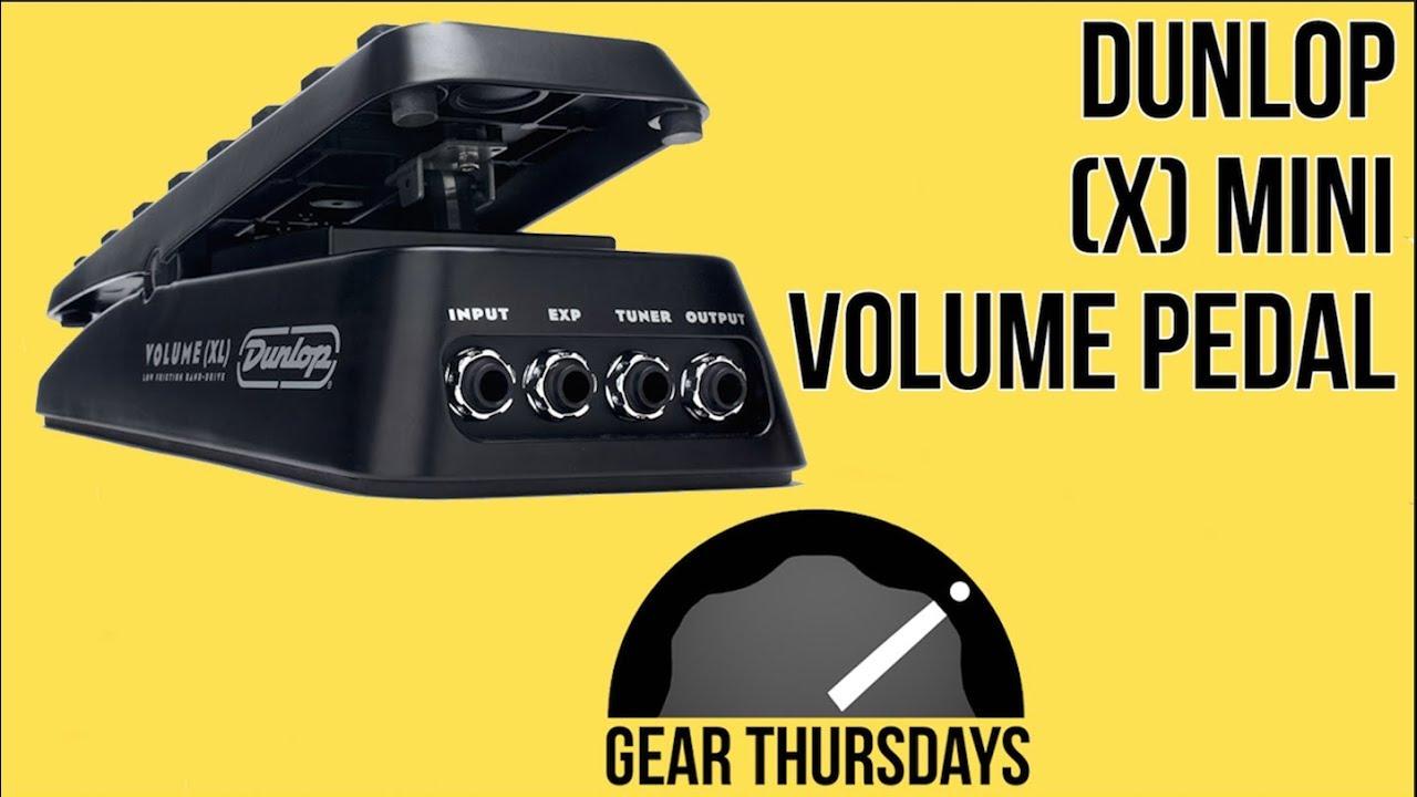 medium resolution of volume pedals dunlop mini x volume pedal gear demo