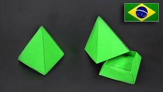 Origami: Caixa Pirâmide - Instruções em Português BR