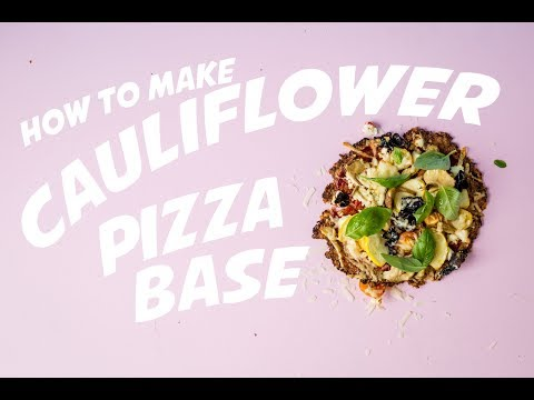 How to Make Gluten Free Cauliflower Pizza Base