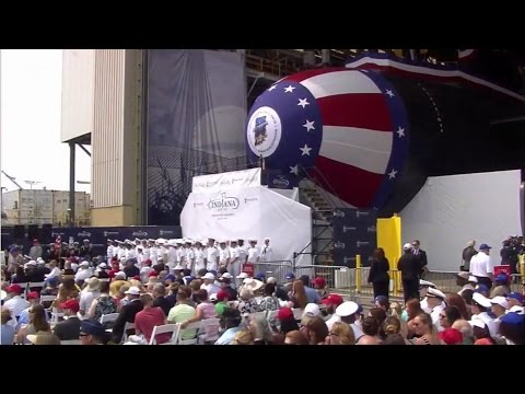 Full Ceremony: The christening of the USS Indiana SSN789
