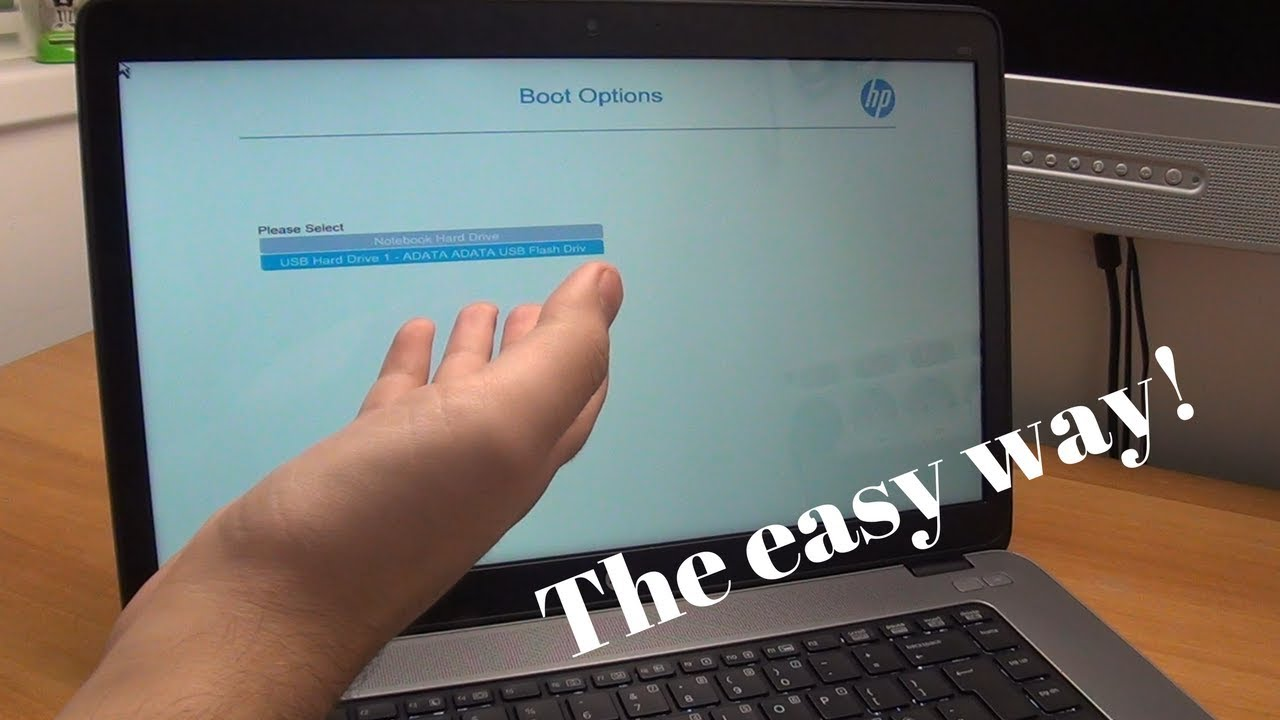 How to enter the Boot Options Menu on most HP EliteBook laptops - The easy  way!