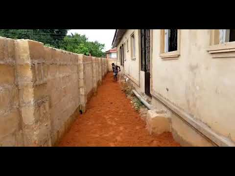 Our rental property in Benin city. leveling of the compound and installation of the tiles part one.
