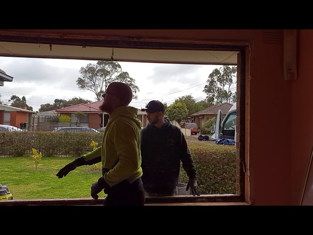 New double glazed windows, rip out the old and in with the new