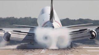 Very HARD Boeing 747 Landing