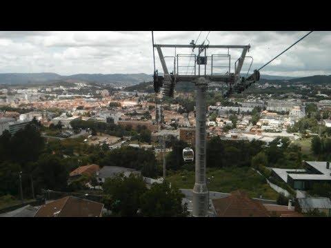 df4baa6e89 Riding the Teleferico de Guimaraes (Guimaraes Cable Car) from Guimaraes to  Penha Mountain (Portugal)