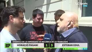 Pagani y Edul no se ponían de acuerdo y salieron a la calle a definir una encuesta