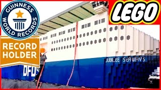 NEW WORLDS BIGGEST LEGO SHIP EVER! NEW GUINNESS RECORD Of top 10 biggest Lego creations in the world