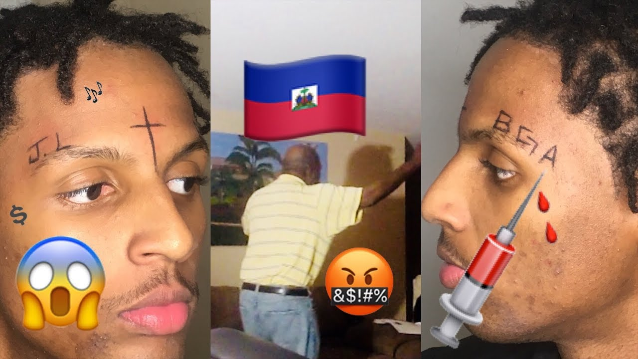 274d0107956ba Face Tattoo Prank On Haitian Parents (VERY INTENSE) - YouTube