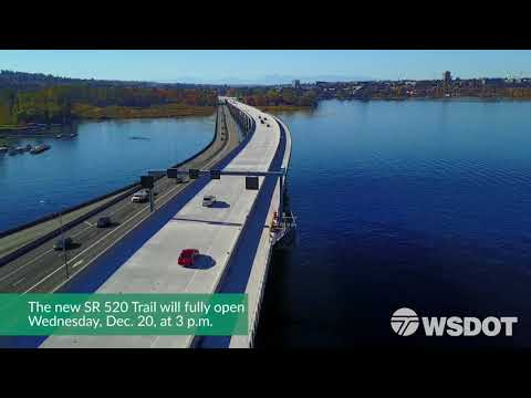 SR 520 bicycle and pedestrian trail opening Dec. 20 - December 2017