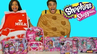 Shopkins Toy Challenge  Cookie Vs. Milk !  || Toy Review || Konas2002