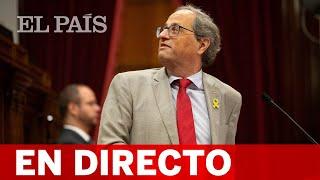 DIRECTO SENTENCIA PROCÉS | TORRA comparece en el PARLAMENT