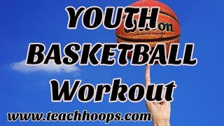 Basketball youth workout / practice. video elementary and middle school drills. ( 35 minutes)