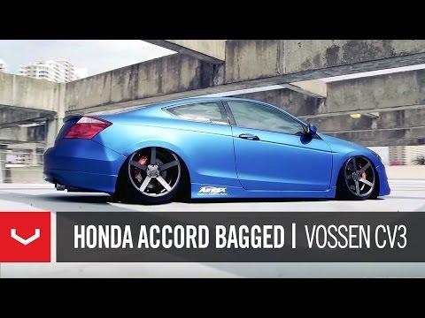 Honda Accord Bagged on 20 Vossen VVS CV3 Concave Wheels Rims
