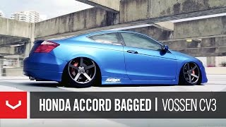 "Honda Accord Bagged on 20"" Vossen VVS-CV3 Concave Wheels 