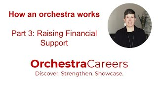 How an Orchestra Works, Part 3: Raising Financial Support