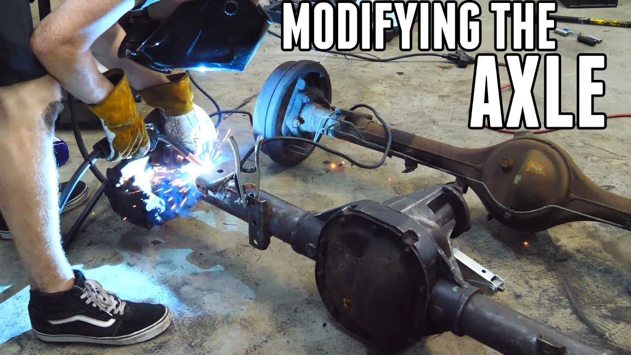 Modifying the Ford Axle to Fit! - Project Drift Truck Pt 4