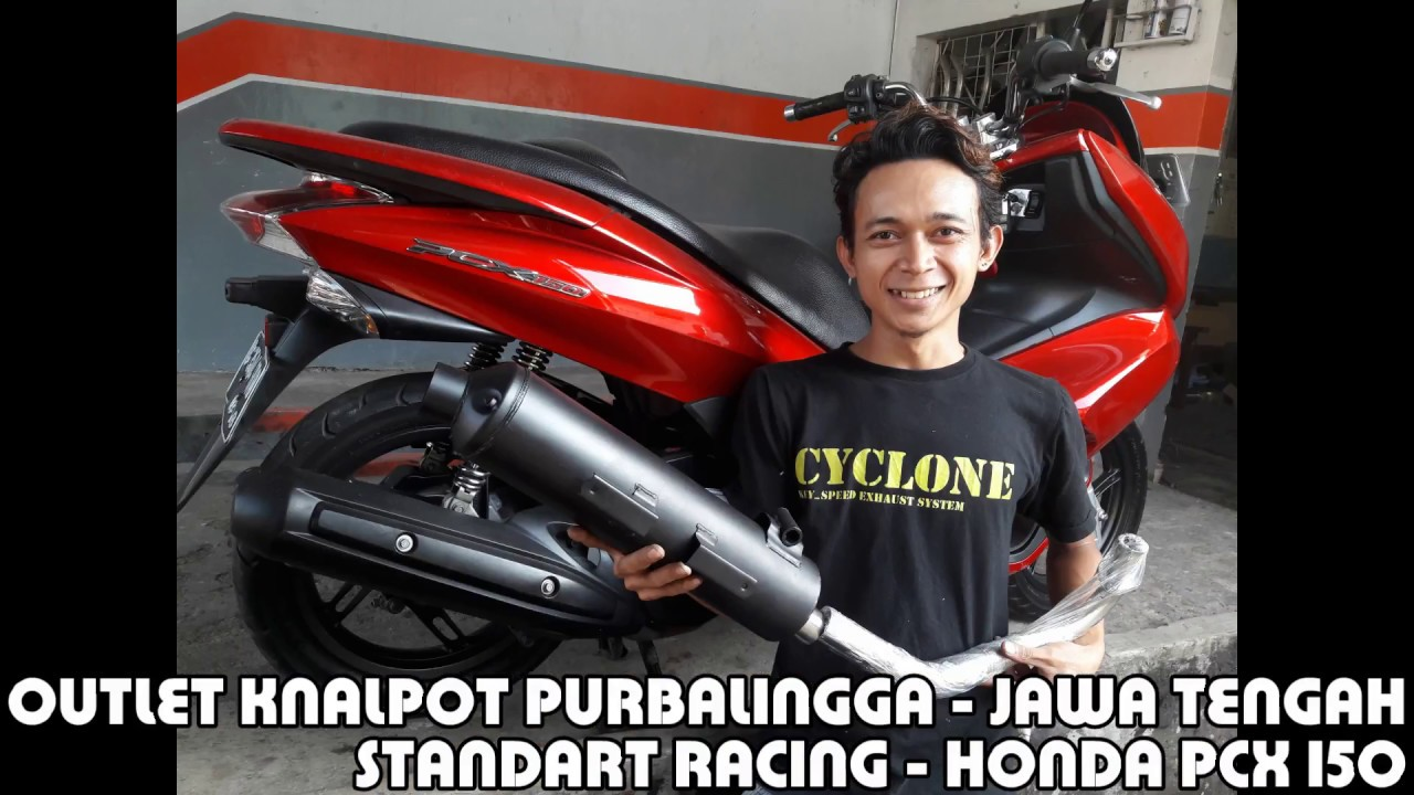 Honda Pcx 150 Knalpot Standart Racing Youtube Prospeed Black Series Yamaha Nmax Fullsystem