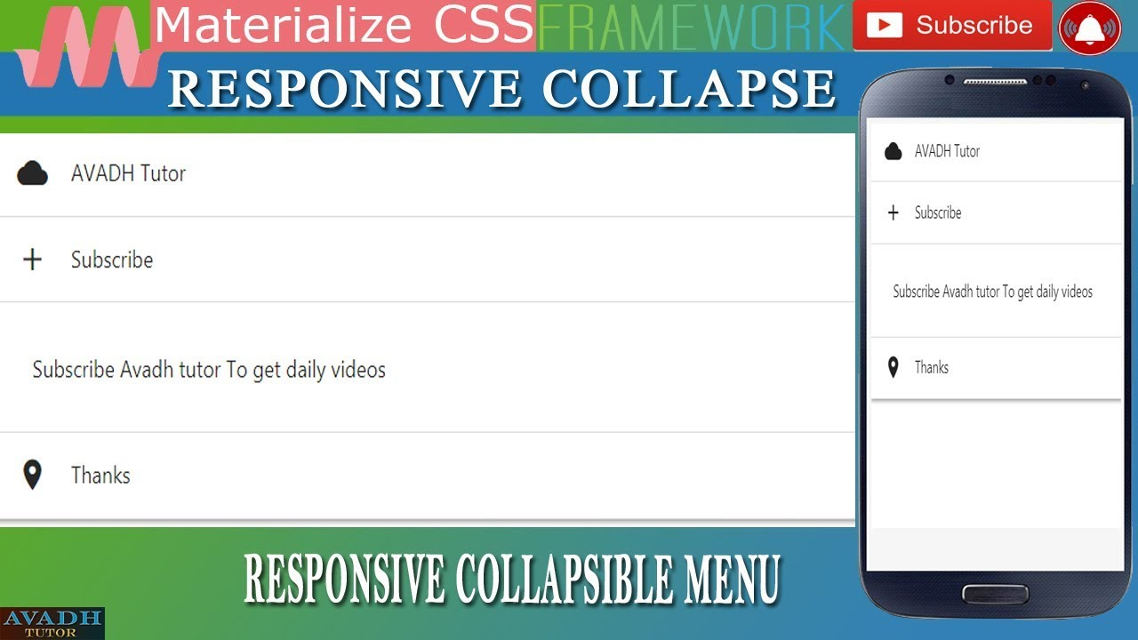 Collapse menu
