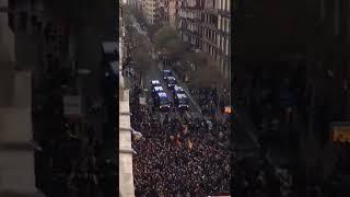 Asi se disolvió la Manifestación de Barcelona, pasen y vean