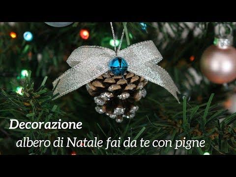 Albero Di Natale Con Pigne.Diy Decorazione Albero Di Natale Fai Da Te Con Pigne Youtube