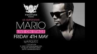 Poshfunk Presents US Superstar MARIO live at the Marquee Club Whetstone n20 Friday 4th May 2012