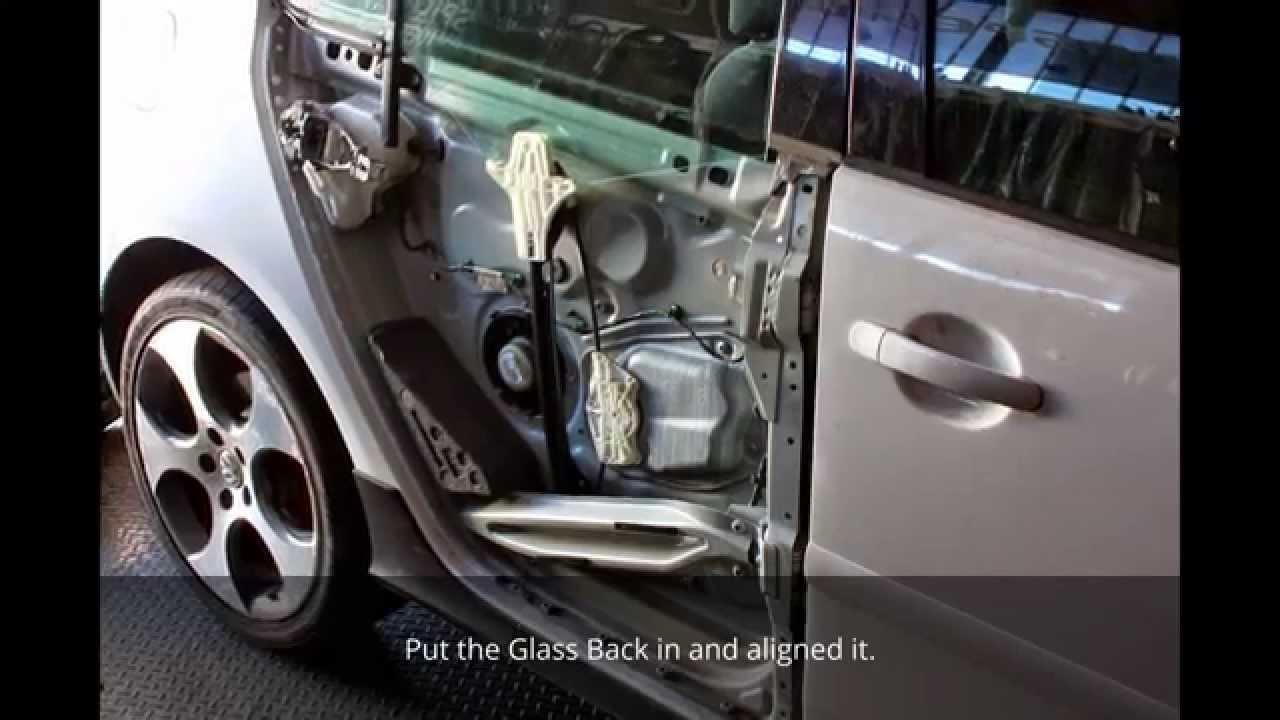 Vw Gti Rear Passenger Door Glass Replacement Over Spider