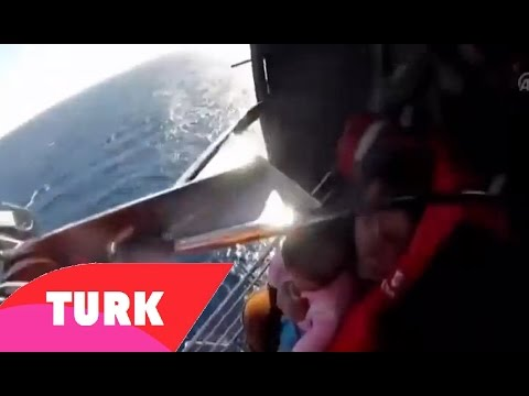Turkish Coast Guard Helicopter Airlifts Syrian Mother and Baby From Sea